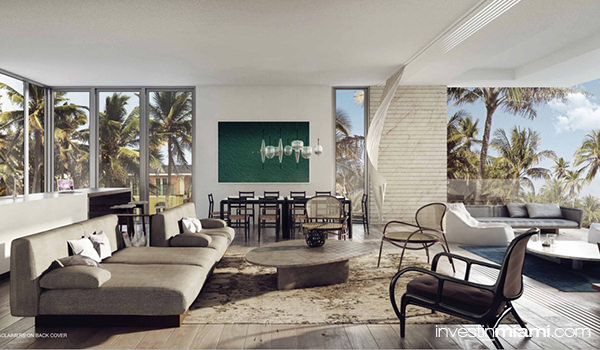 louver house miami beach living room