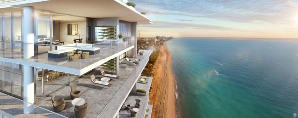 LAtelier Miami Beach Penthouse Balcony View