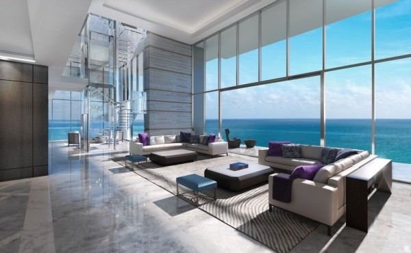 LAtelier Miami Beach Penthouse Living Area 1