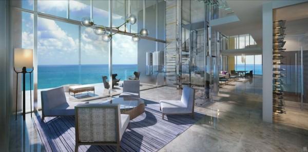 LAtelier Miami Beach Penthouse Living Area 2