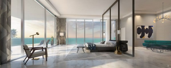 LAtelier Miami Beach Penthouse Master Bedroom 2