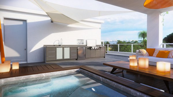 One Bay rooftop pool