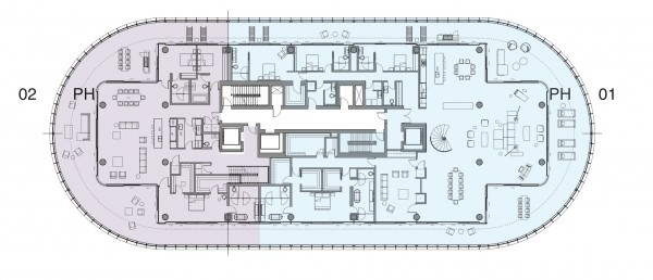 Penthouse floor Plan Lvl 1