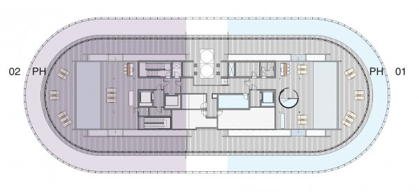 87 Park Penthouse floor Plan Roof top
