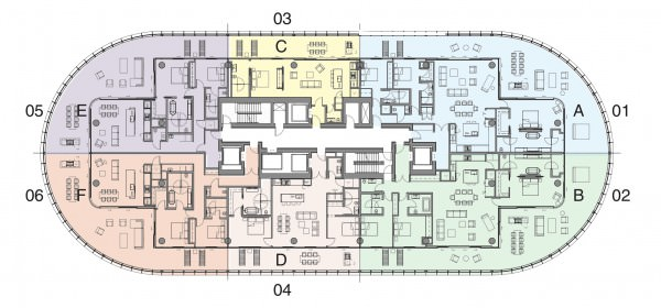 87 Park floor Plan LVL 4-10