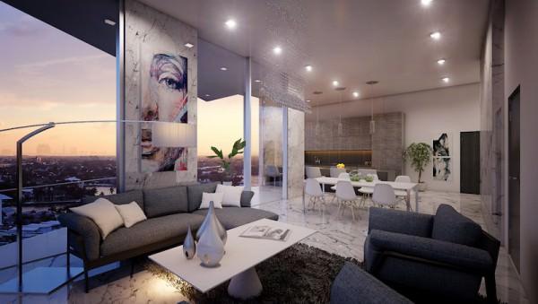 Aurora Sunny Isles Living Room