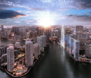 Aston Martin Residences Miami Arial City View