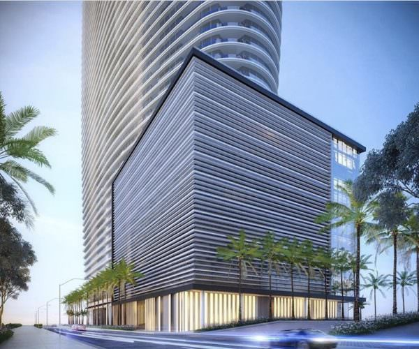 Aston Martin Residences Miami Garage view