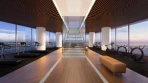 Aston Martin Residences Miami - Gym glass stair detail