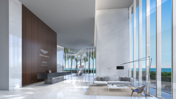 Aston Martin Residences East Lobby
