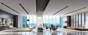 Aston Martin Residences Miami - Interior Upper West Lobby