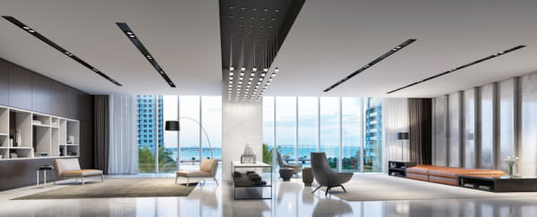 Aston Martin Residences Miami - Interior Upper West Lobby