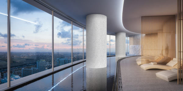 Aston Martin Residences Miami - Panoramic indoor pool