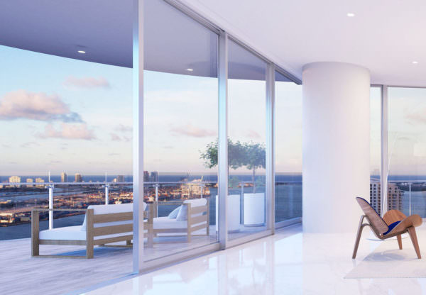 Aston Martin Residences Miami - Unit 01A_Living Room 2