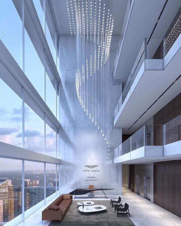 Aston Martin Residences Miami Sky lobby