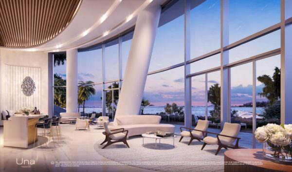Una Residences Miami Brickell Residences Lobby