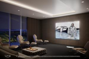 Una Miami Residences Media Room