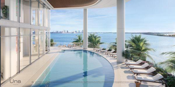 Una Residences Miami Brickell Residences North Pool Deck