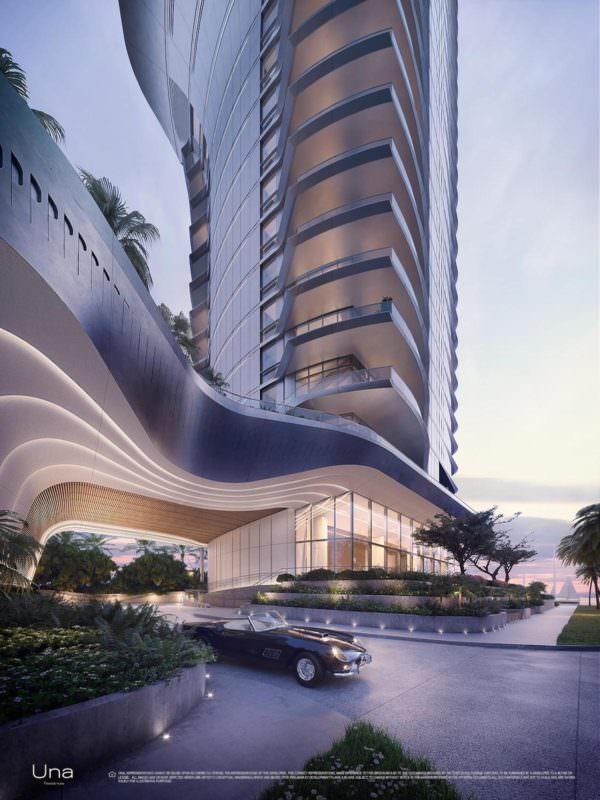 Una Residences Miami Brickell Residences Porte Cochere