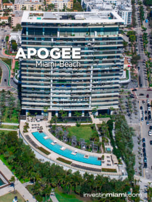Apogee Miami Beach Building Arerial