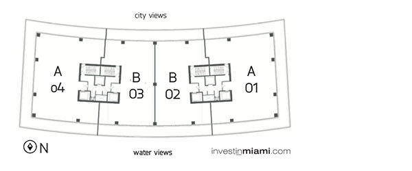 Apogee Miami Beach Key Plan