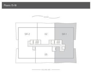 57 Ocean Level 15-18 Floor Plan