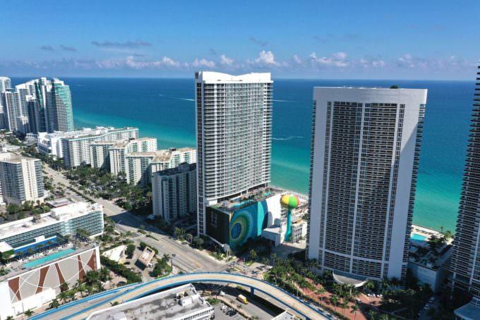 Hyde Beach Resort Aerial 2