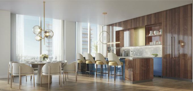 Kitchen large residences and Penthouses