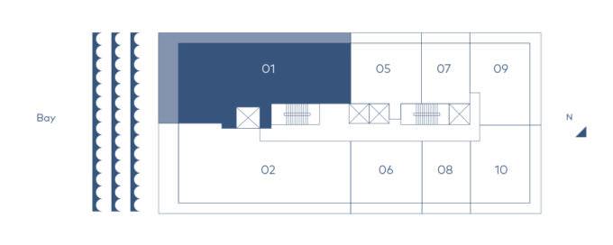 Mr C Residences Key Plan