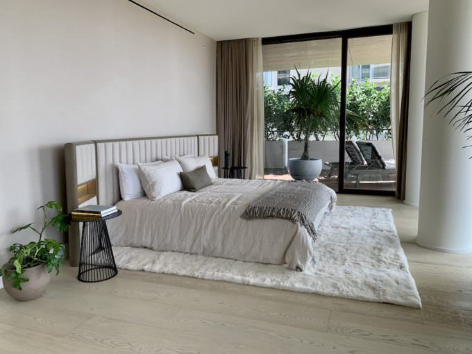 Arte Surfside Master Bedroom and terrace