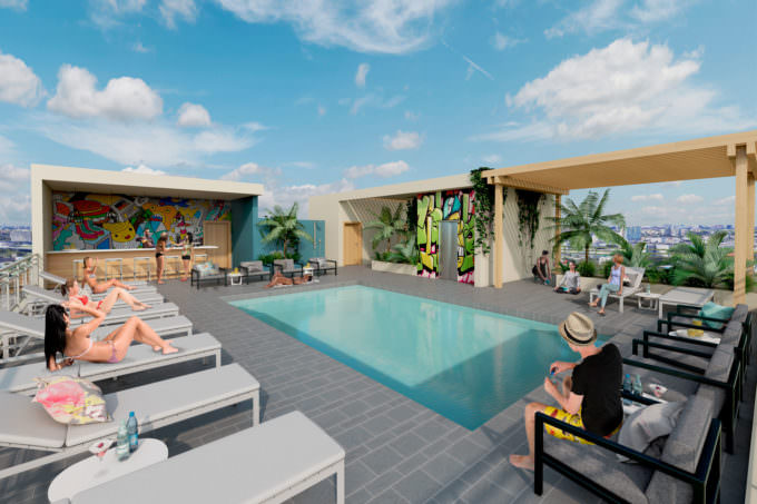 Wynwood Atriums Rooftop pool and bar