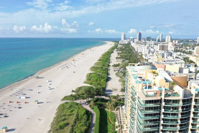 Il Villaggio South Beach Aerial South Exposure