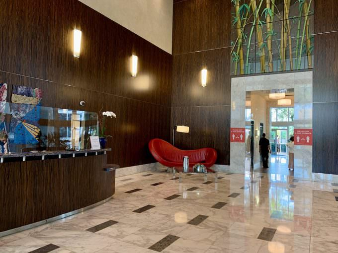 Lobby and 24 hour concierge
