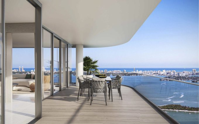 Water views from every residences