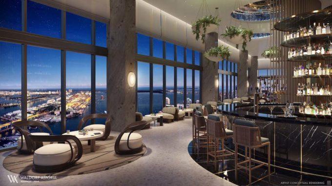 Waldorf Astoria Residences Miami Peacock Alley Bar