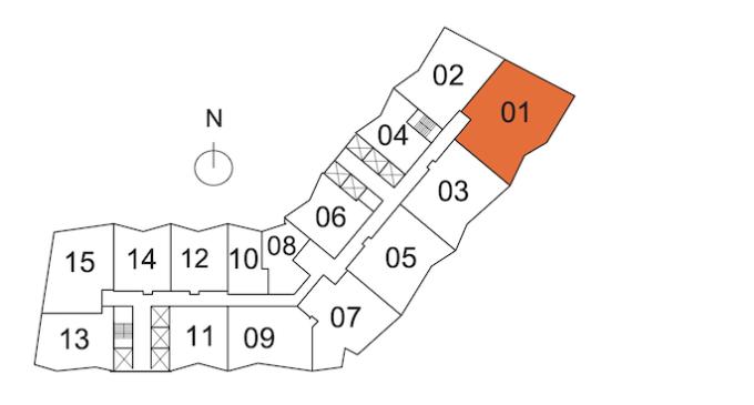 Icon Brickell Tower 1 Key Plan